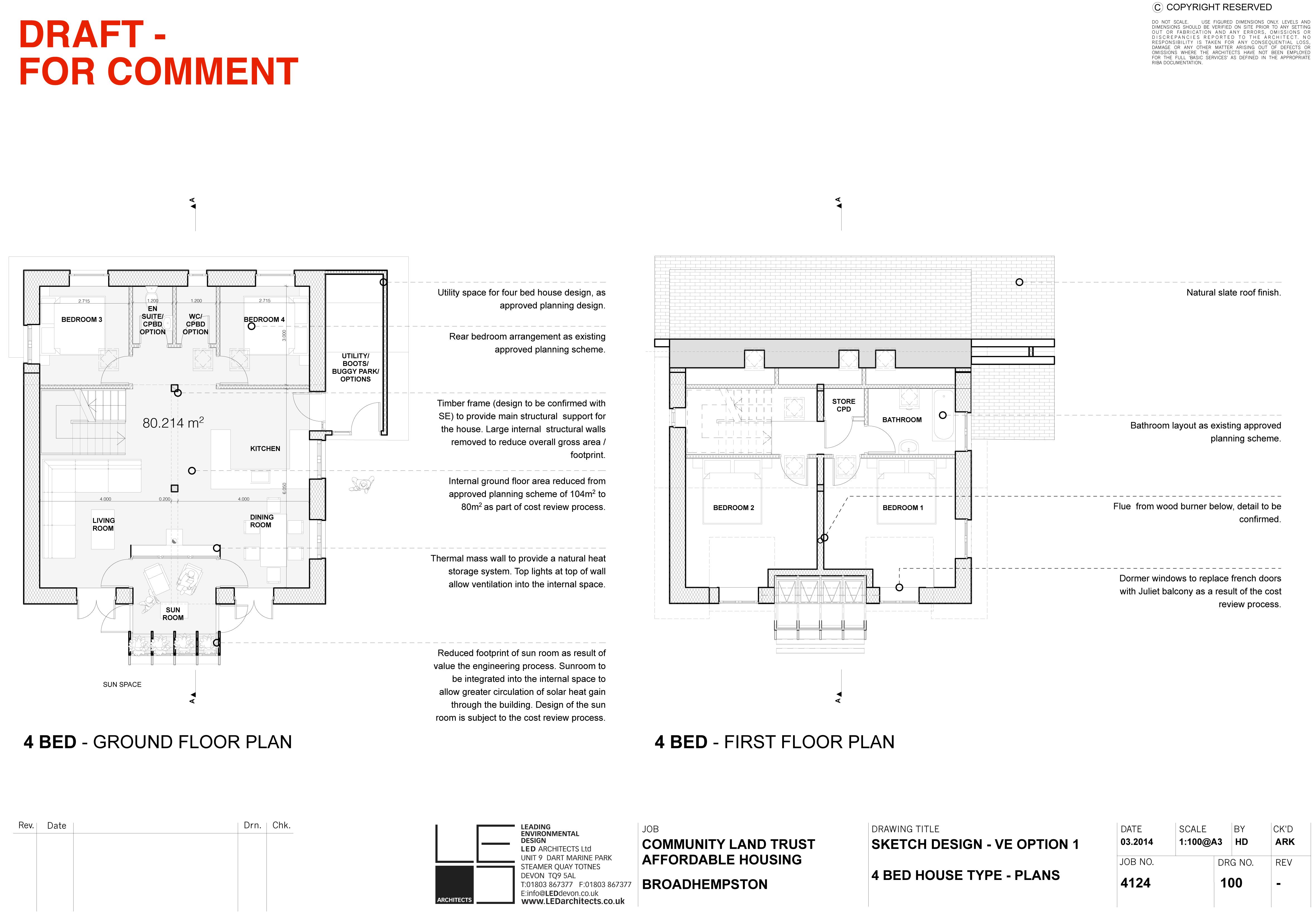 ... 4124 100 4 Bed VE Option 1 Plans
