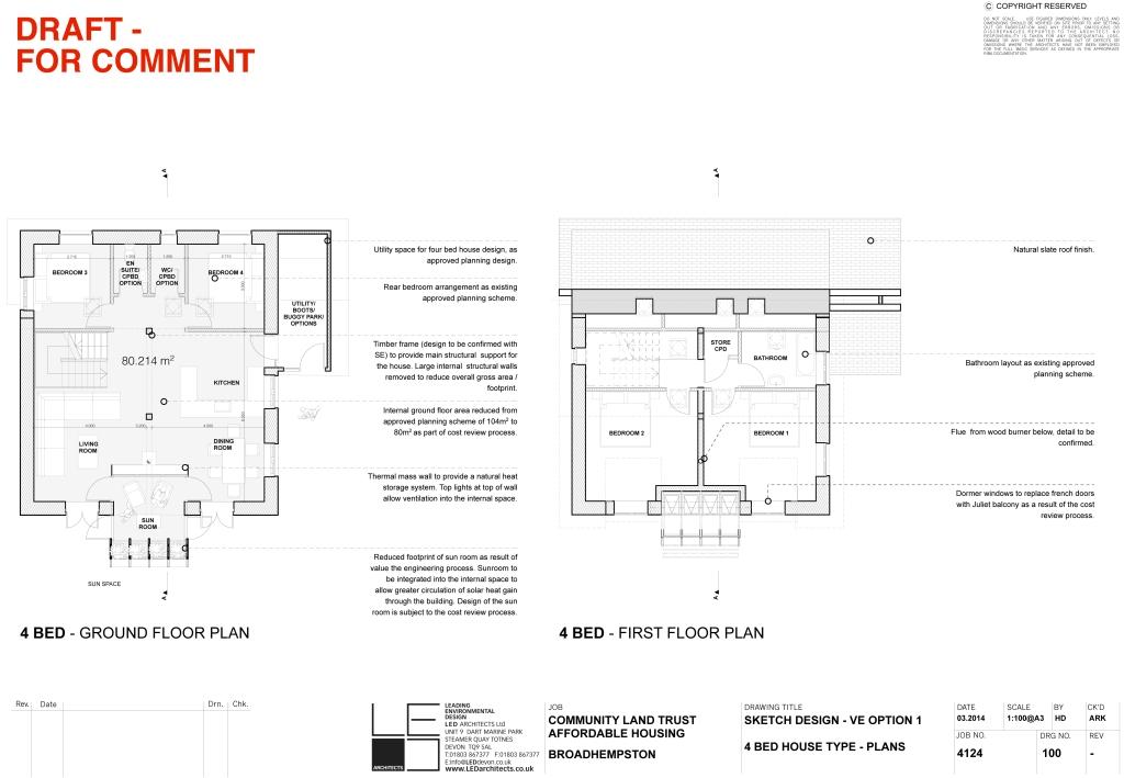 4124 100 4 Bed VE Option 1 plans