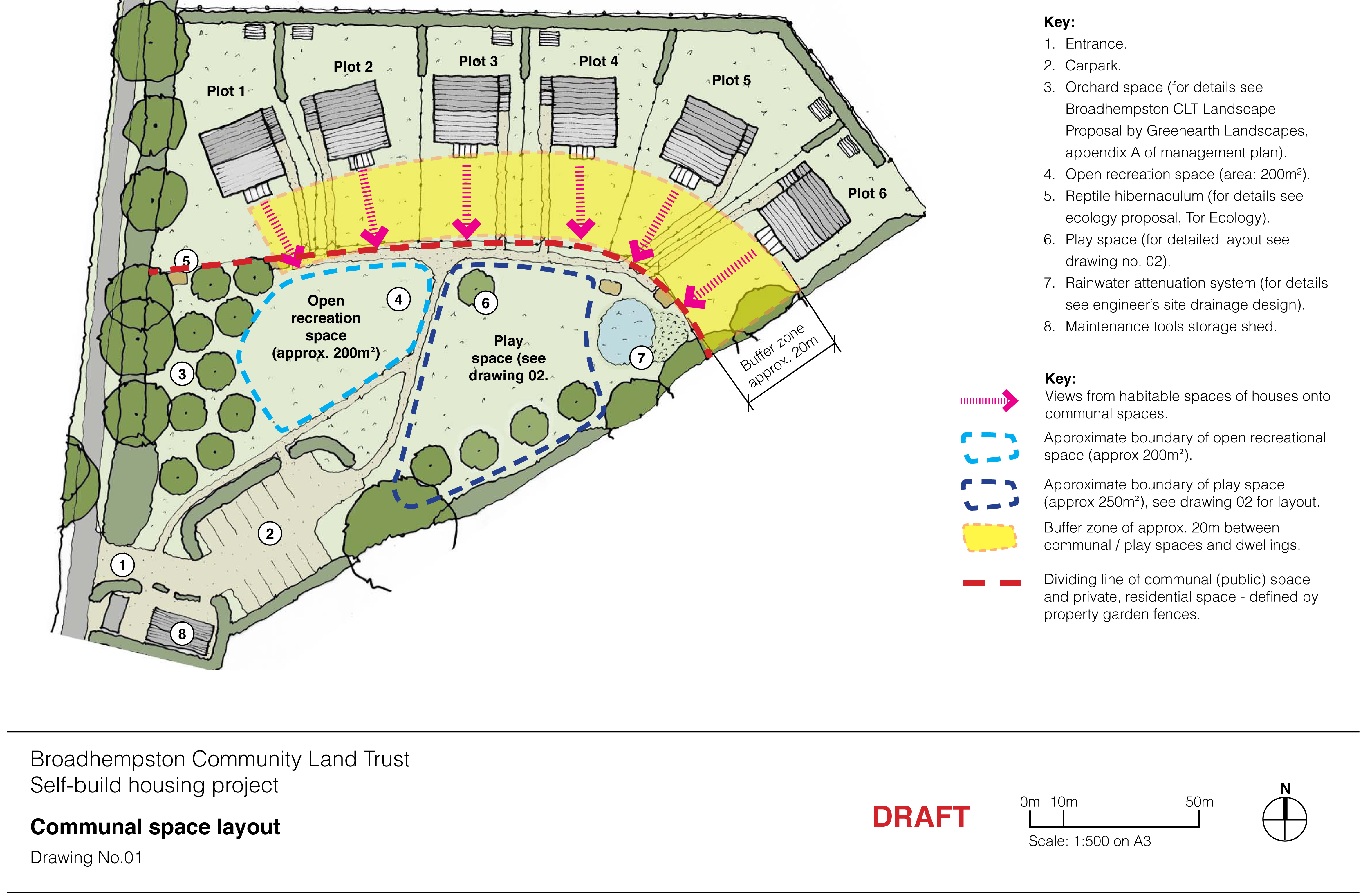 Communal site layout site layout broadhempston clt