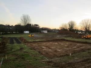 Plot 3 with topsoil removed